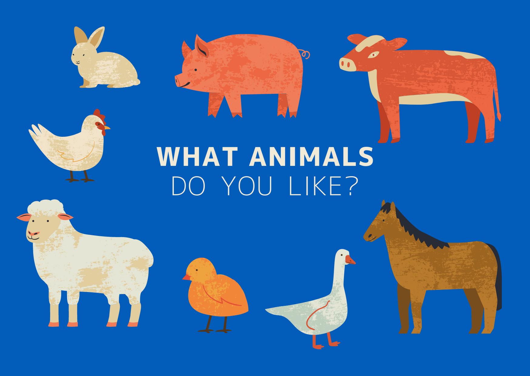 青 農場 動物 つながり 印刷ポストカード.png